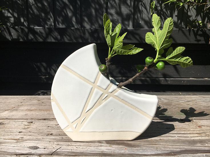 White Moon Vase