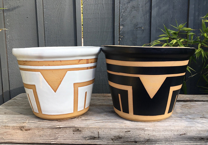 """3"""", 4"""" 6"""" or 8"""" Triangle Sunset Plant Pot"""