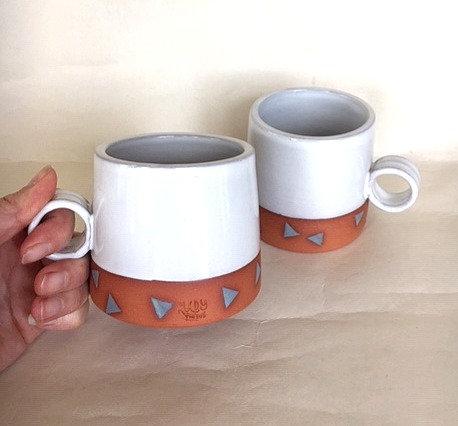 Set of Two Triangle Mugs