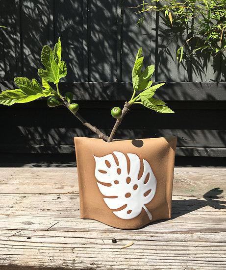 Monstera Leaf Bud Vase