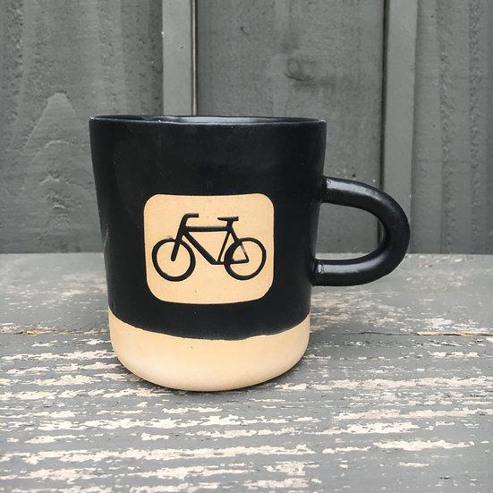 Wonky Bike Camp Mug in Matte Black