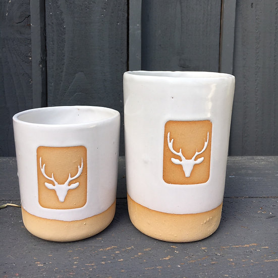 Wonky Stag Head Tumbler