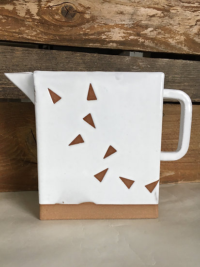 Box Pitcher with Triangles