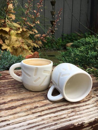 Confetti White on Porcelain Espresso Mug