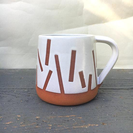 Red Clay Confetti Mug