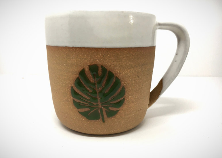 12 oz Monstera Leaf Mug