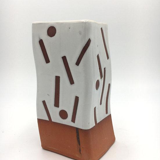 Wavy  Square Confetti Vase