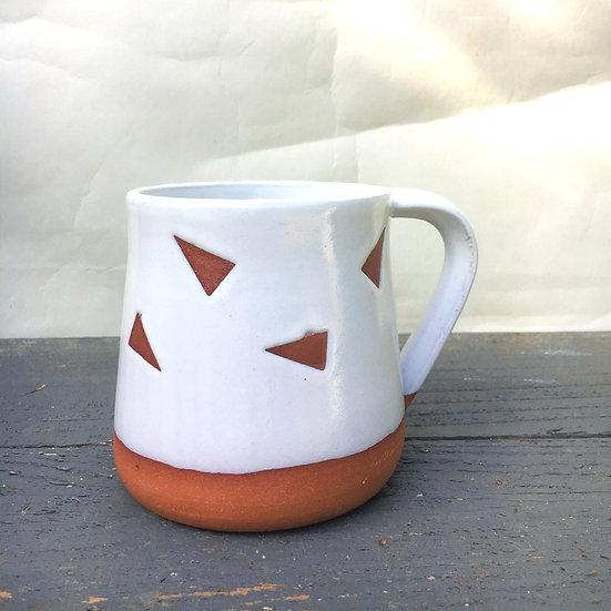 Red Clay Triangle Confetti Mug