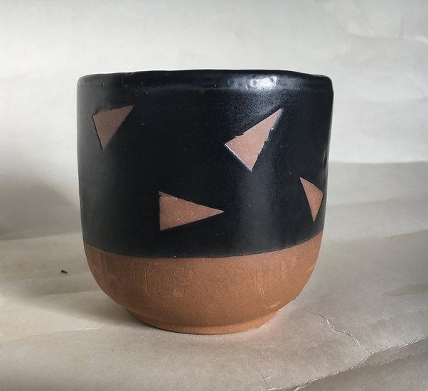 Small Triangle Confetti Plant Pot
