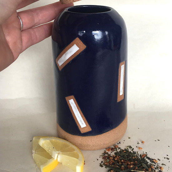 Cobalt Blue Cork Jar
