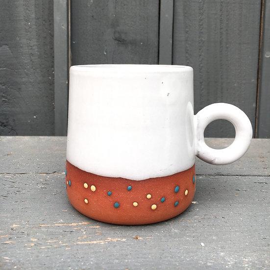 Funfetti Circle Handle Mug