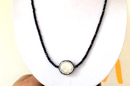 Collana girocollo swarovski e perla