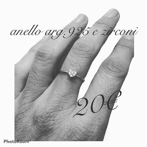 ANELLO ARG.925 CON CUORICINO DI ZIRCONI
