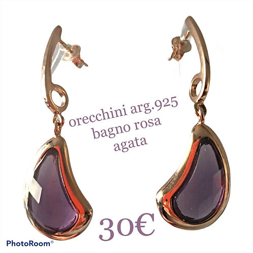 ORECCHINI A GOCCIA ARG.925 CON ONICE O AGATA