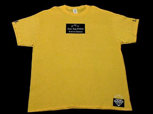 Yellow T-Shirt (Black and White Ice Design)