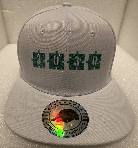 PBC Hats - White w/Green Ice Money