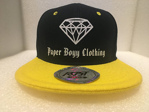PBC Hats - Black and Yellow w/ White