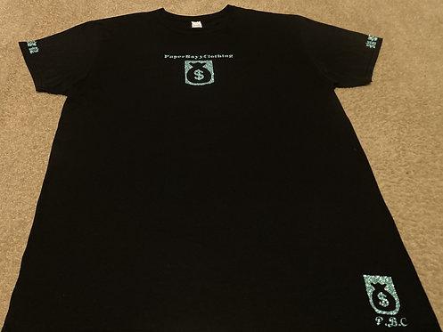 BlackT-Shirt (Green Ice Money - Reverse Design)