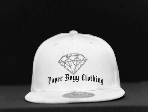PBC Hats - White w/Chrome and Black Ice