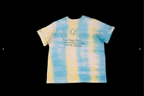 Blue & Yellow Tie Dye T-Shirt (Green Ice Design)
