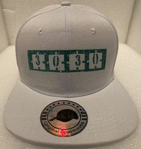 PBC Hats - White w/Green Ice Money - (Reversed)