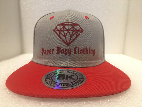 PBC Hats - Grey and Red w/Red Ice