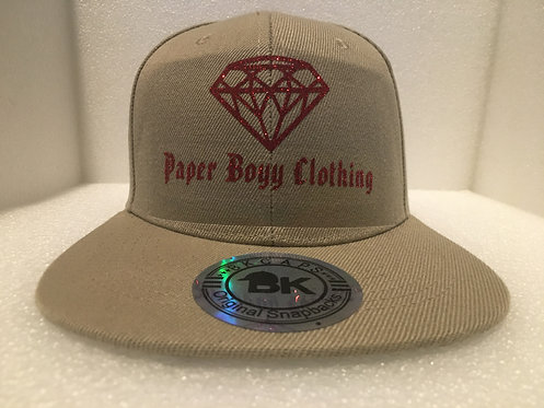 PBC Hats - Tan w/Red Ice