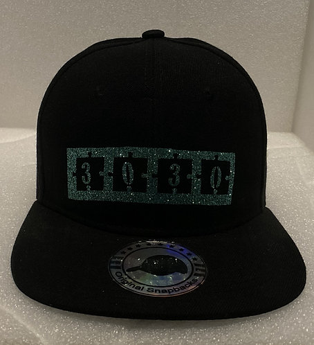 PBC Hats - Black w/Green Ice Money - (Reversed)