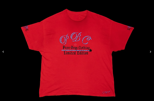 Red T-Shirt (Blue and Black Ice Design)