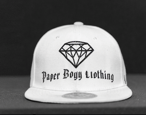 PBC Hats - White w/Black Ice