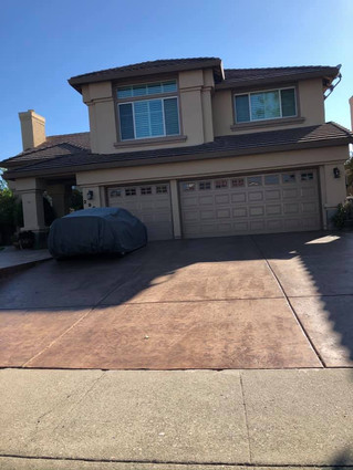 Stamp n color finishes Driveway
