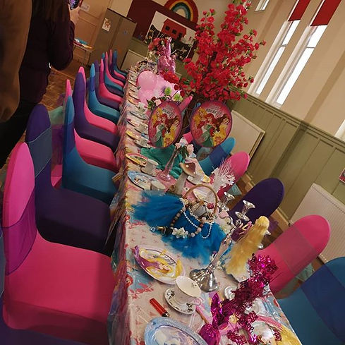We can put the magic in any little girls party!!! Become a, Princess for a day, walk the r