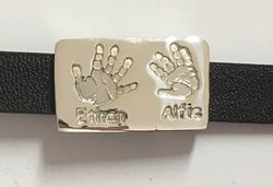 Leather Bracelet with Pendant