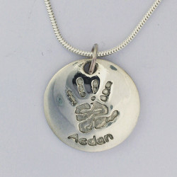 Round Pendant with Snake Chain