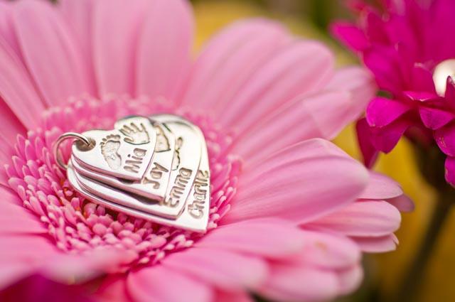 4 Descending Heart Necklace