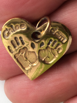 Heart with Gold Vermeil Coating