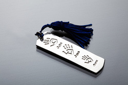 Bookmark with Blue Tassle