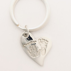 Offset Heart Keyring