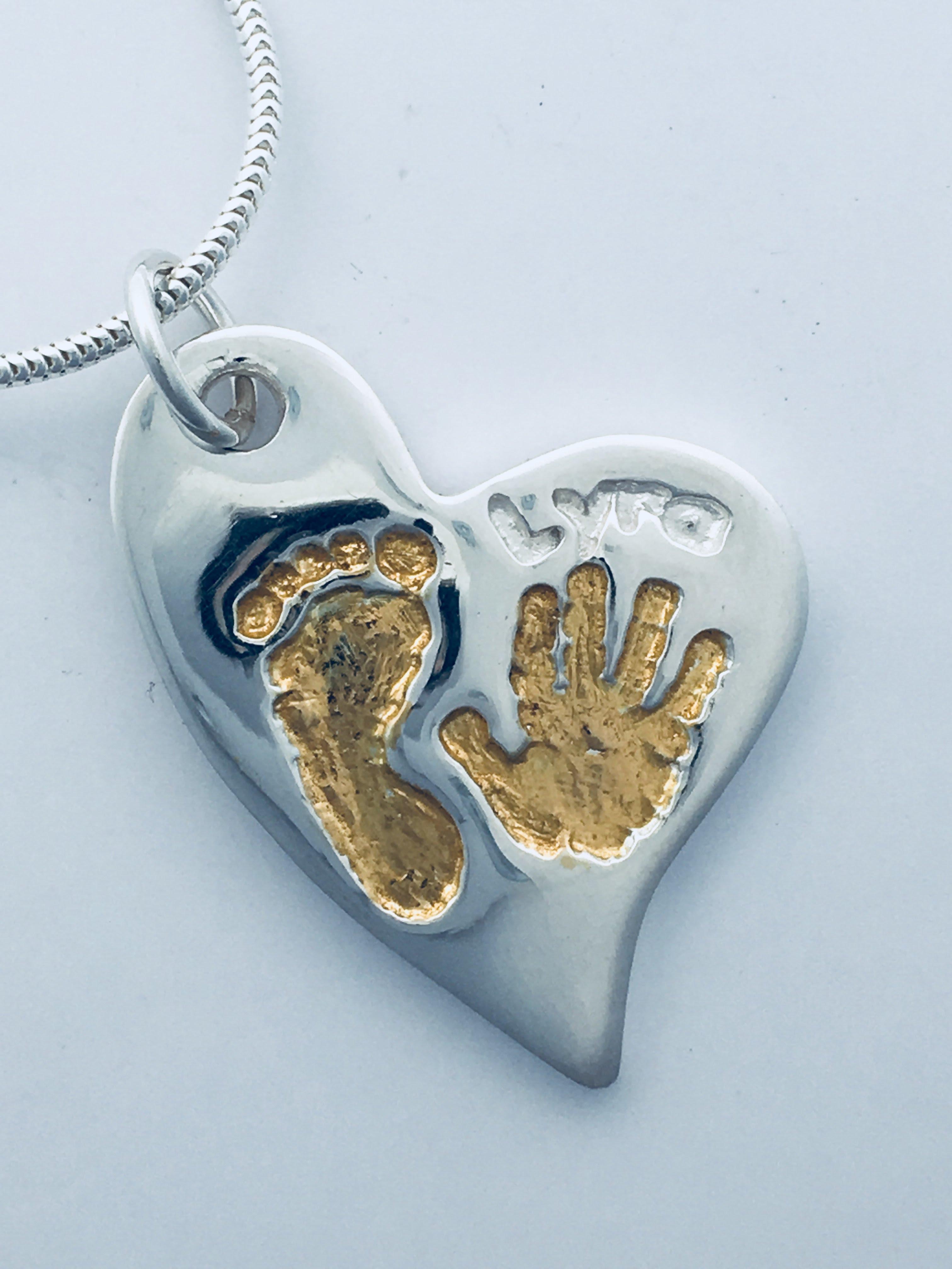 Offset Heart & Gold Vermeil Infill