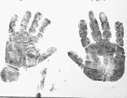 Imprints taken on paper with wipes