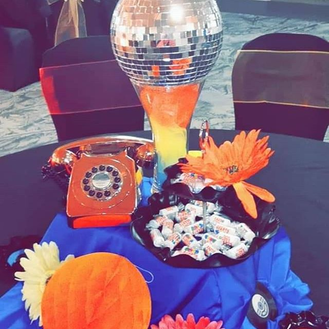 Retro Party Centrepieces & Retro Photo S