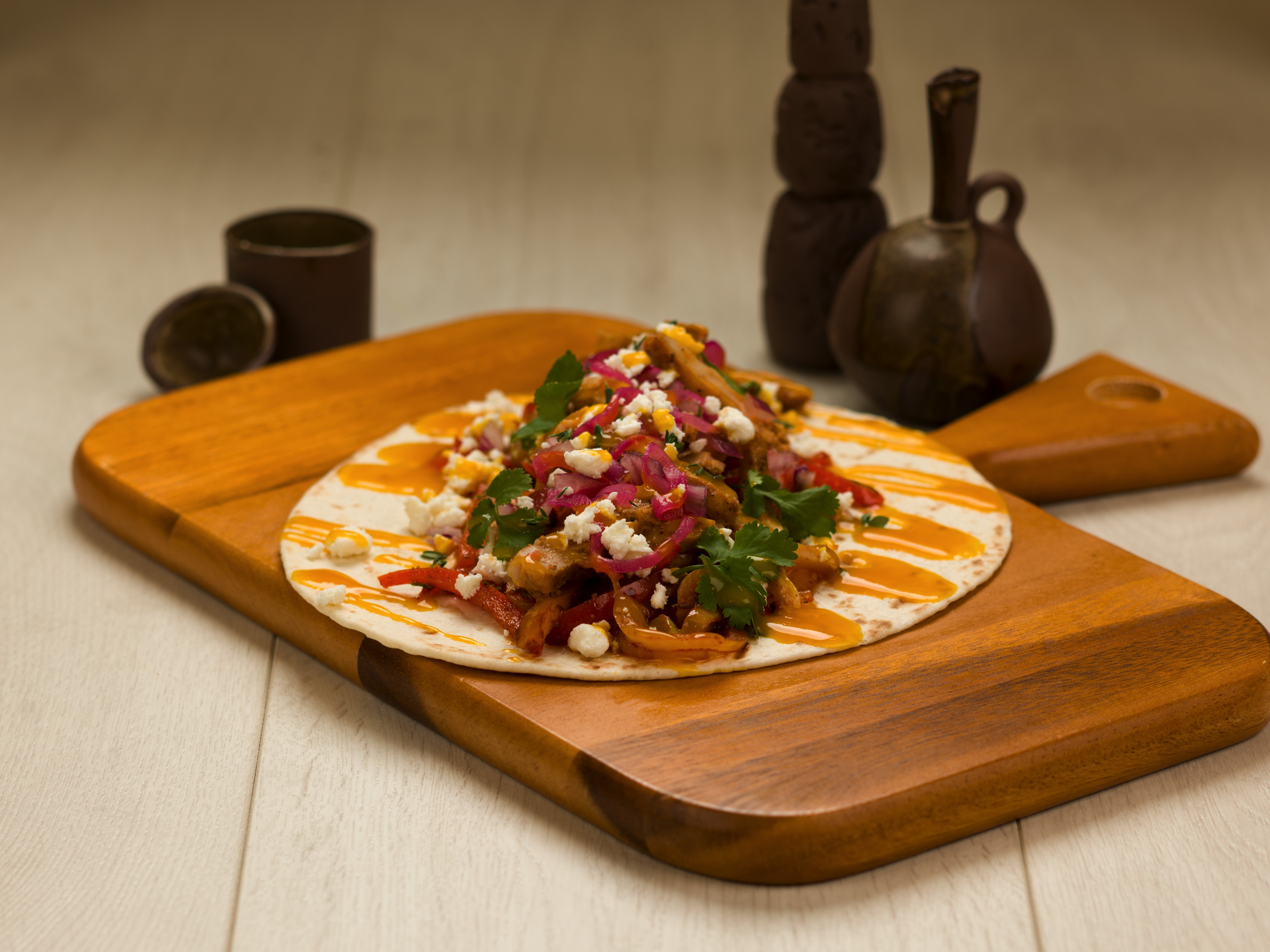 Mexican Fajita Chicken Wrap