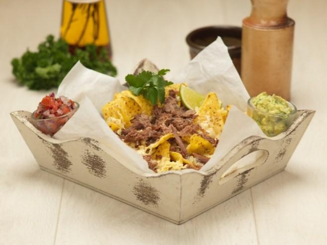 Slow Cooked Shredded Brisket nachos