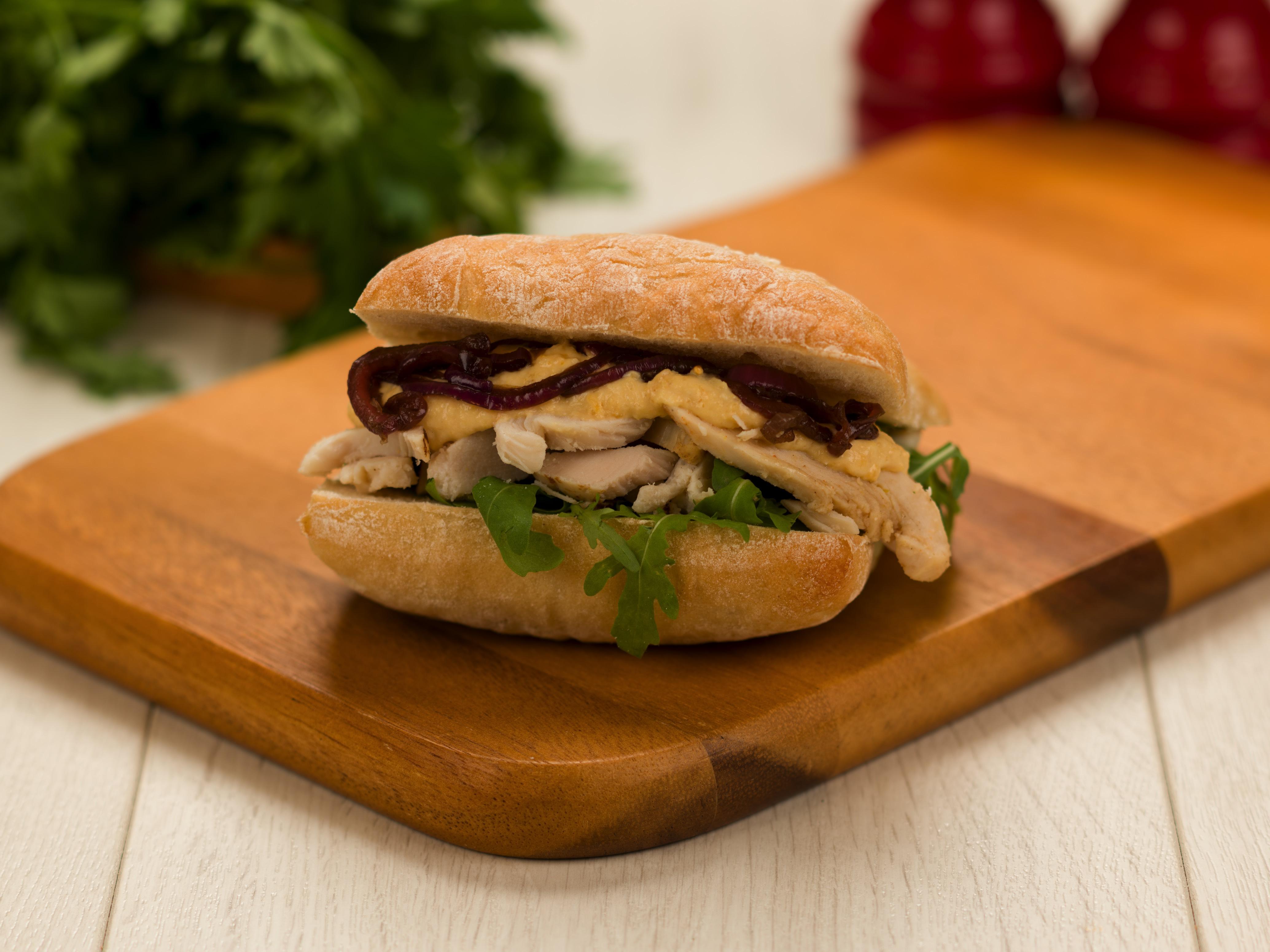 Roast Chicken Strips Sandwich