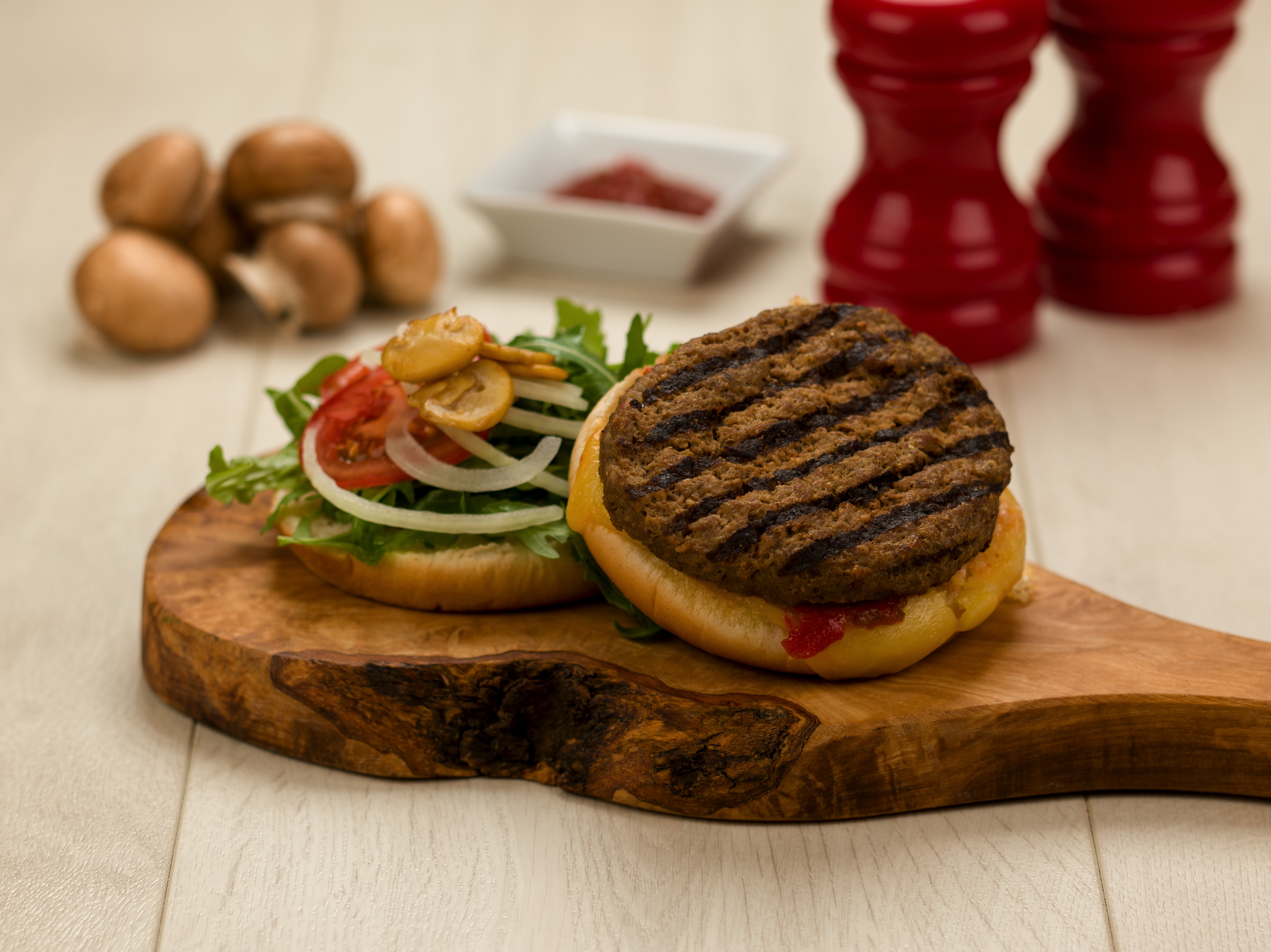 Cooked Chargrilled Beef Burger