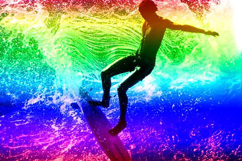 Art of Surfing Logo Rainbow T-shirt
