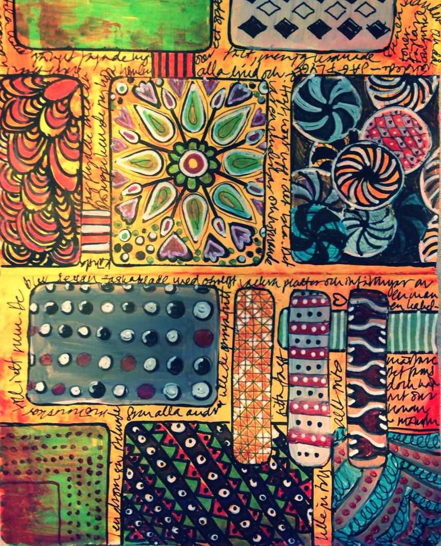 gloriavictoria art journal doodle
