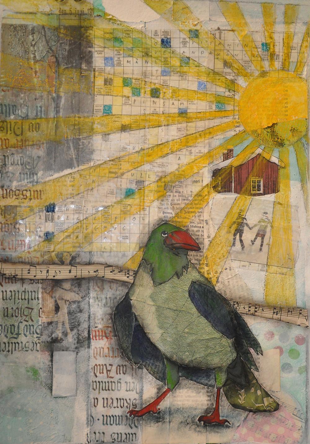 gloriavictoria art journal solfågel
