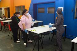 Sanitización mesas casino hospital