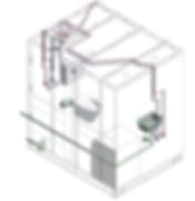 VVS installationer i badkabine i stål